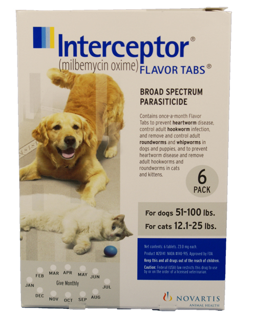 6 MONTH Interceptor White for dogs and cats