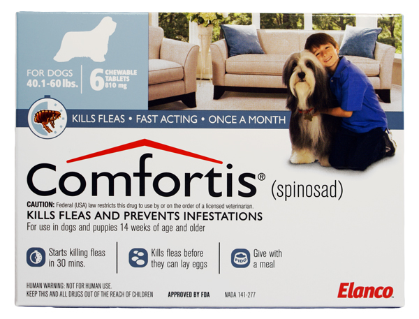 Comfortis 810mg For Dogs 40 60 Lbs 1 Pill