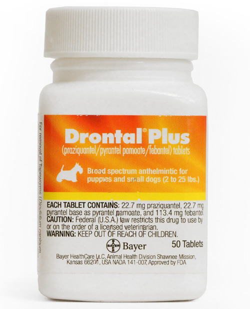 Drontal Plus For Dogs 22 7 Mg Small Per Tablet