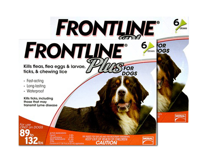 12 Month Frontline Plus For Dogs 89 132 Lbs