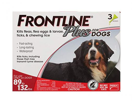 3 Month Frontline Plus For Dogs 89 132 Lbs
