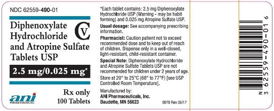 Diphenoxylate Atropine Lomotil 2 5mg Per Tablet
