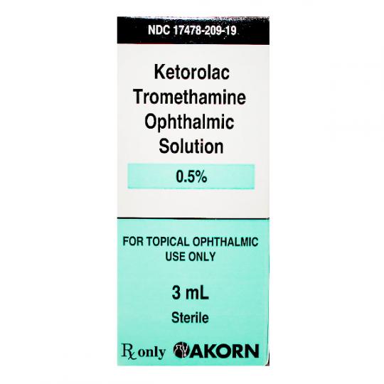 Ketorolac Tromethamine Eye Drops 0 5 3ml