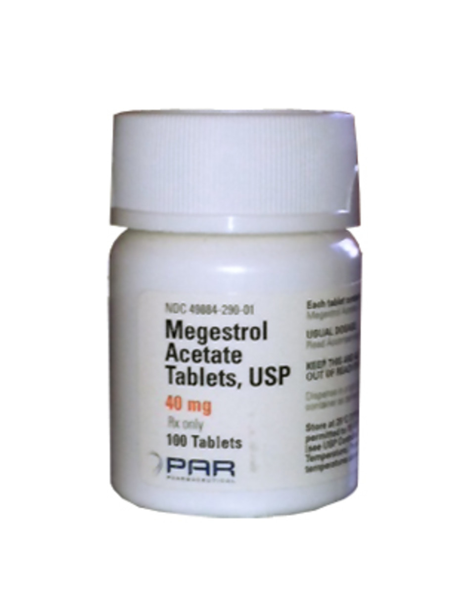 Megestrol 40 Mg 100 Tablets