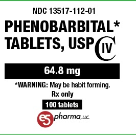 Phenobarbital 64 8mg Per Tablet