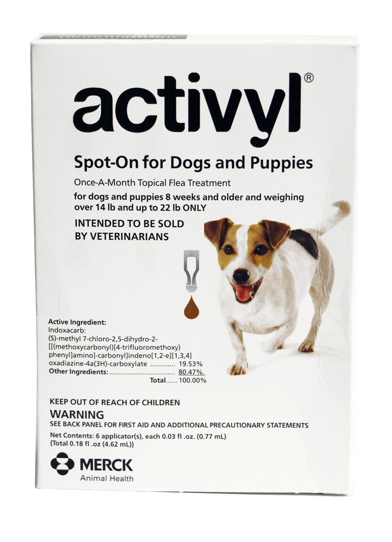 Activyl For Dogs 14 22 Lbs 6 Pack