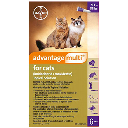 Advantage Multi For Cats 91 18 Lbs 6 Pack