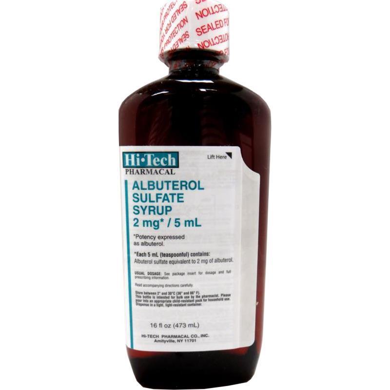 Albuterol Sulfate 2mg 5ml Syrup 16oz