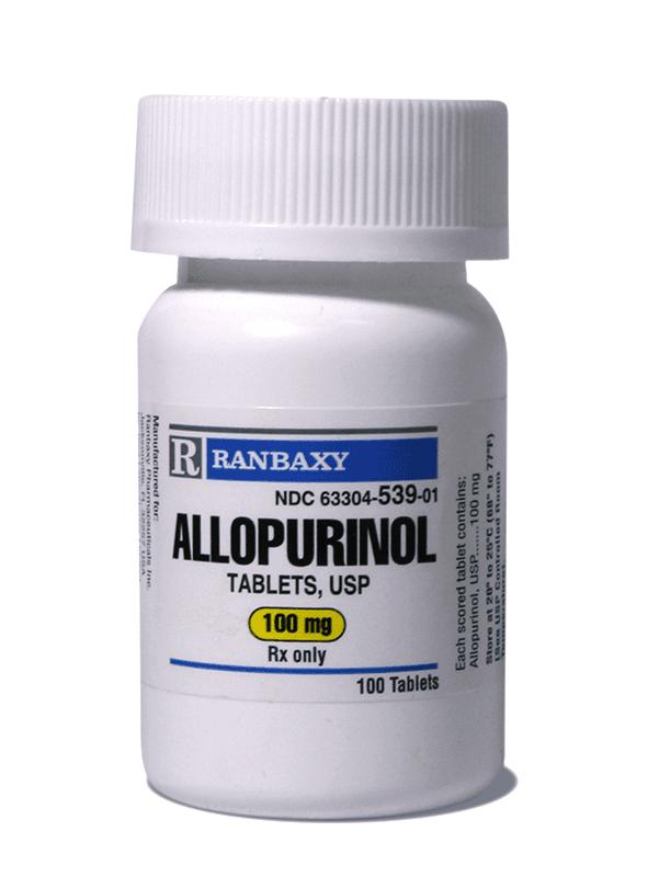 Allopurinol 100 Mg 100 Tablets