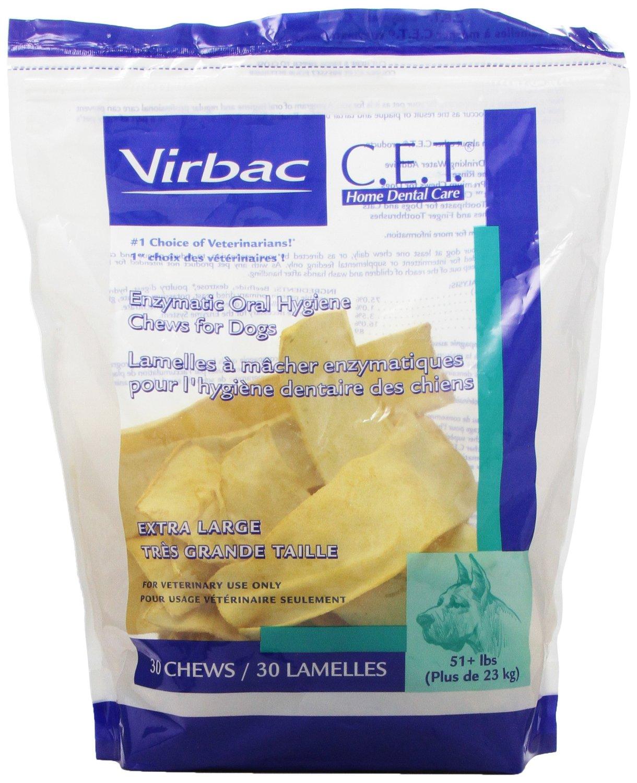 C.E.T. Enzymatic Oral Hygiene Chews for Dogs XL 30 ct