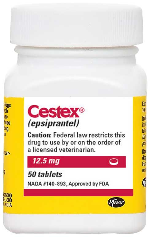 Cestex Epsiprantel 12 5mg 100 Tablets