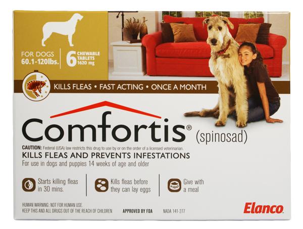 Comfortis 1620mg For Dogs 60 120 Lbs 1 Pill