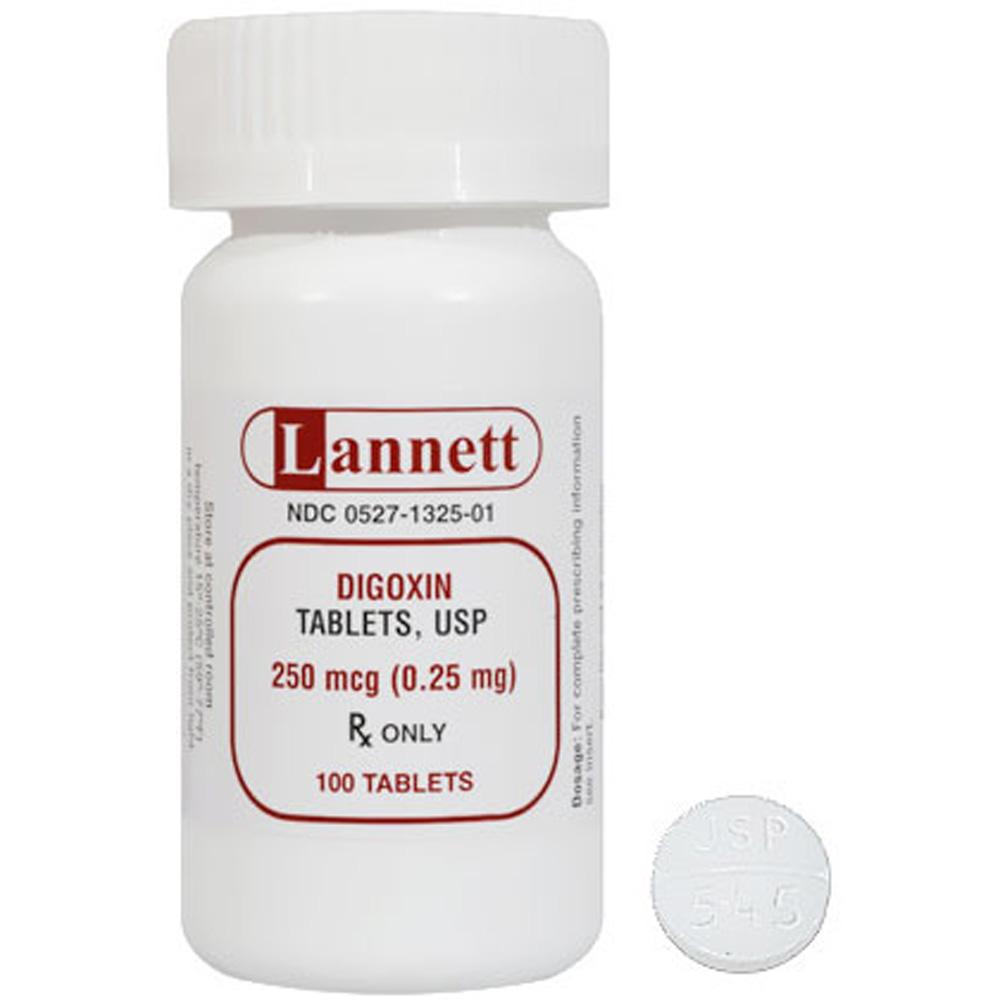 Digoxin 25mg 100 Tablets