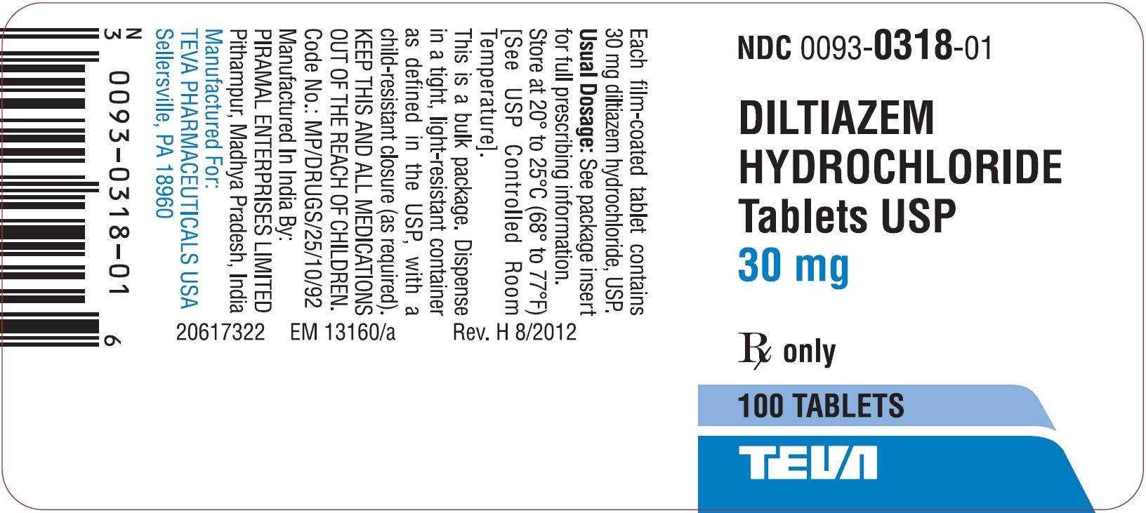 Diltiazem 30 Mg