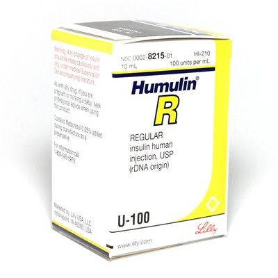 For the product Humulin