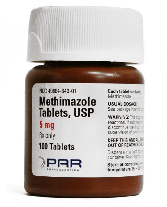 methimazole generic tapazole 5mg 100 count
