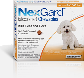 Nexgard 4 10 Lbs 1 Tablet