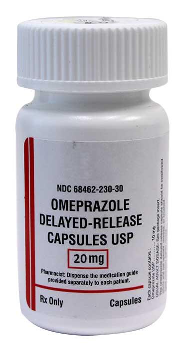 Omeprazole 20mg 100 ct capsules