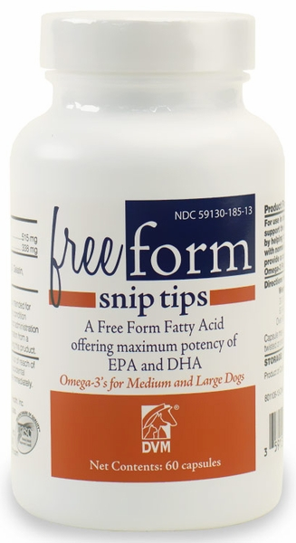 Free Form Snip Tips Omega 3 For Medium Large Dogs 60 Ct